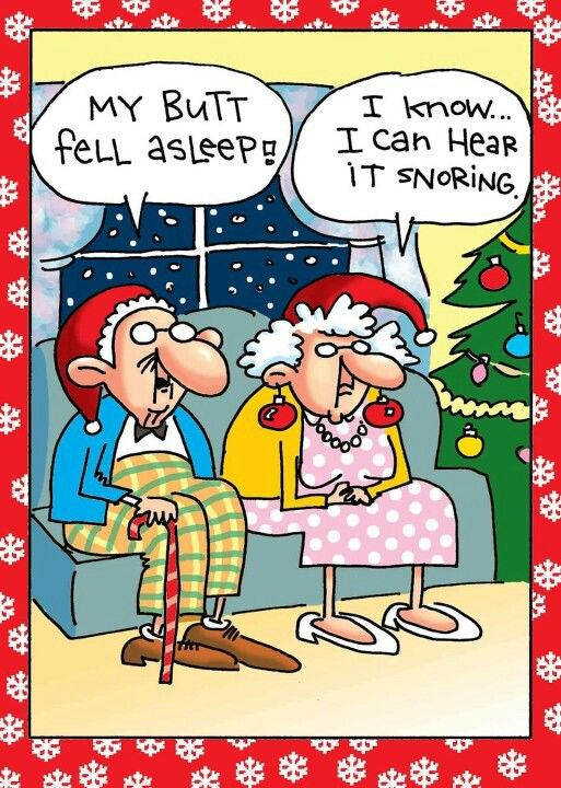 Christmas Humor: Grandma and Grandpa have their own holiday tradition.