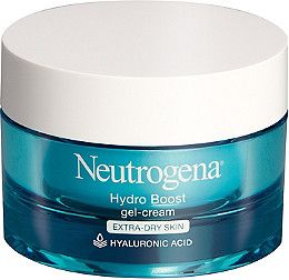 Neutrogena Hydro Boost Gel-Cream for extra-dry skin, a fragrance-free, lightweight gel-cream that instantly quenches and continuously hydrates skin..