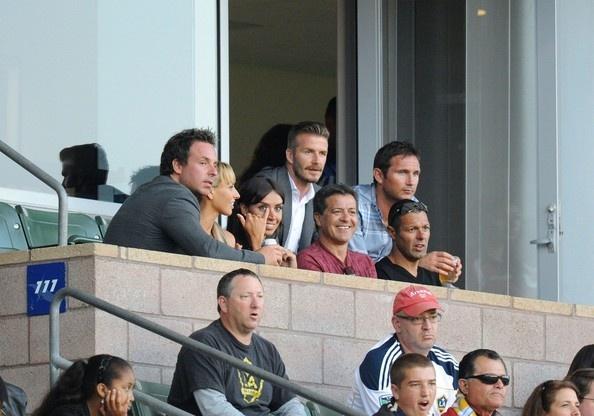 David Beckham Photo - David Beckham Watches the Game
