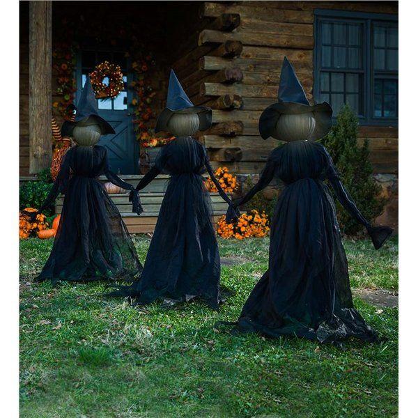 Lighted Halloween Witch Garden Stake Halloween Outdoor Decorations Halloween Shopping Outdoor Halloween