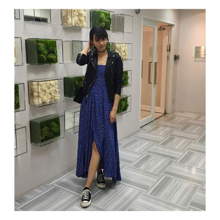 #mytokyostyle this spring  #chucktaylor #leatherjacket #longdress #onepiece