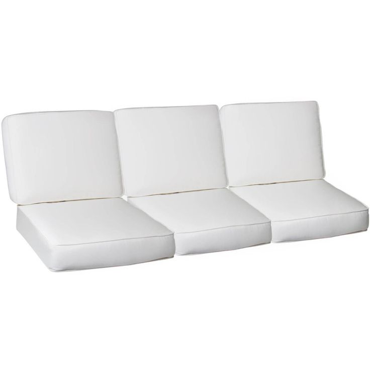 Sofa Covers Sunbrella Canvas Natural Piece Large Outdoor Replacement Sofa Cushion Set W Piping By UltimatePatio