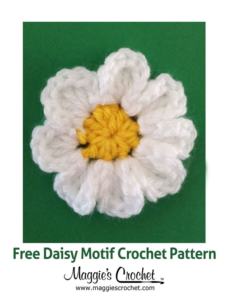 Daisy Motif Free Crochet Pattern from Maggies Crochet ...