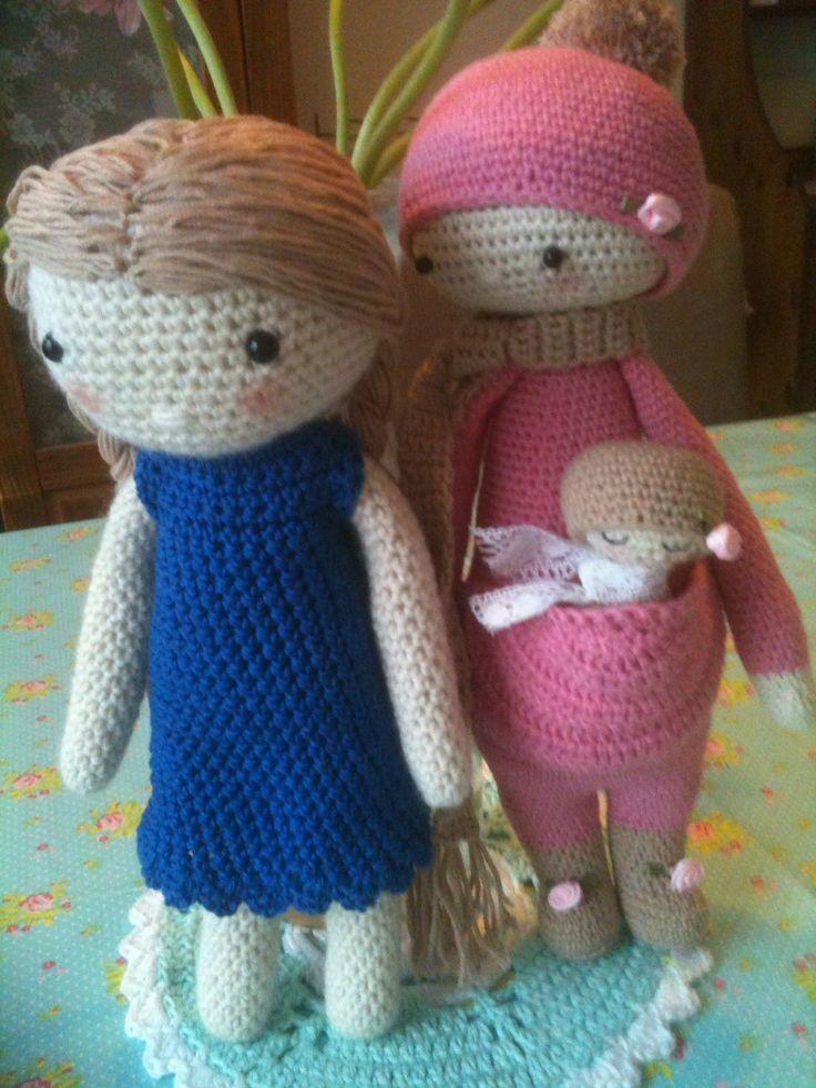 Mijn gehaakte pop en Kira naar een patroon van lalylala Annemarie Evers/mani di Anne