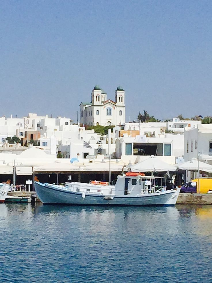 Boats in the harbour of Naousa Paros, Greece