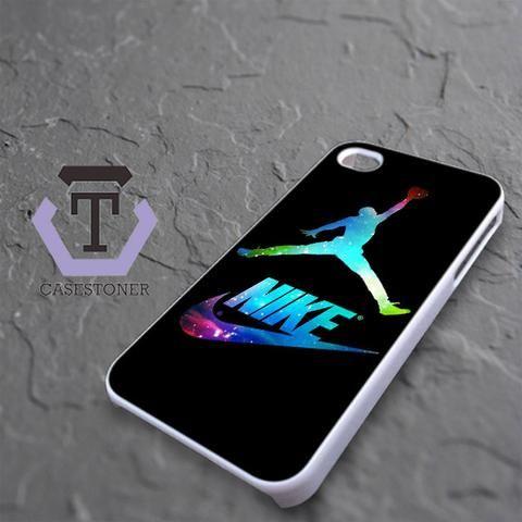 Michael Air Jordan Nike Galaxy iPhone 4|iPhone 4S Black Case