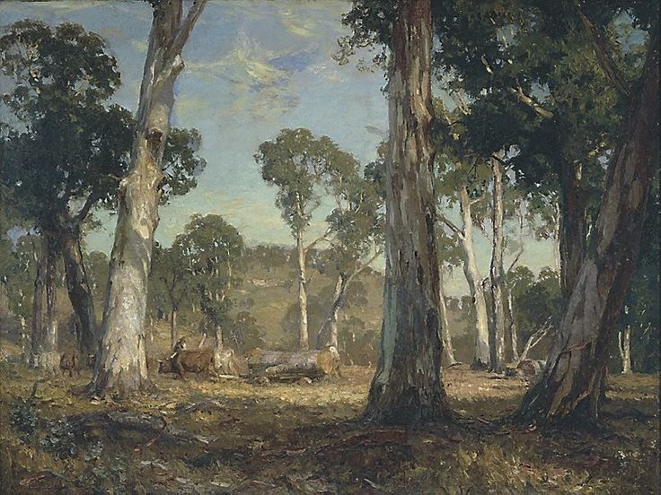 Hauling timber, Sir Hans Heysen, 1911, Art Gallery of NSW