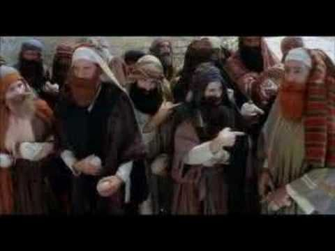 Monty Python's - Life of Brian (Stoned to death...) - Matthias, son of Deutoronomy of Gath... - Do I say yes? - Yes. - Yes! - You have been found guilty by t...