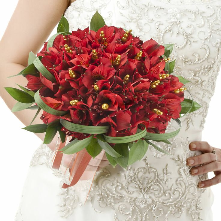 red peruvian lilies bridal fs at ProFlowers