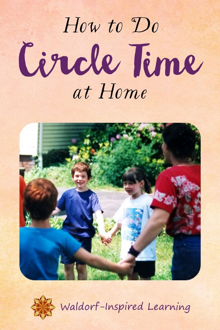 Circle time includes songs, verses, movement activities, and games. Does it work for homeschooling? Yes! Here ideas for how to do circle time at home. Great for your Waldorf homeschooling circle time with your children.