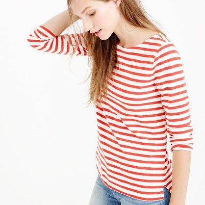 J.Crew - Pre-order Striped boatneck T-shirt