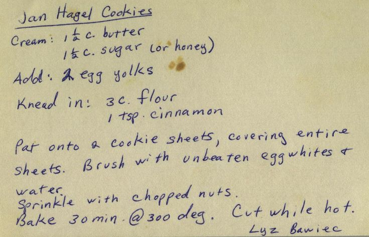 Jan Hagel Cookies ~ From my mom's recipe collection.   phil_g
