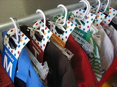 Printable Days of the Week Tags for Organizing Kids Closets