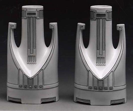 Vase Peter Behrens (German, 1868–1940) Date: ca. 1900–1905 Medium: Porcelain Dimensions: H. 7-5/8 inches (19.4 cm.) Classification: Ceramics-Porcelain