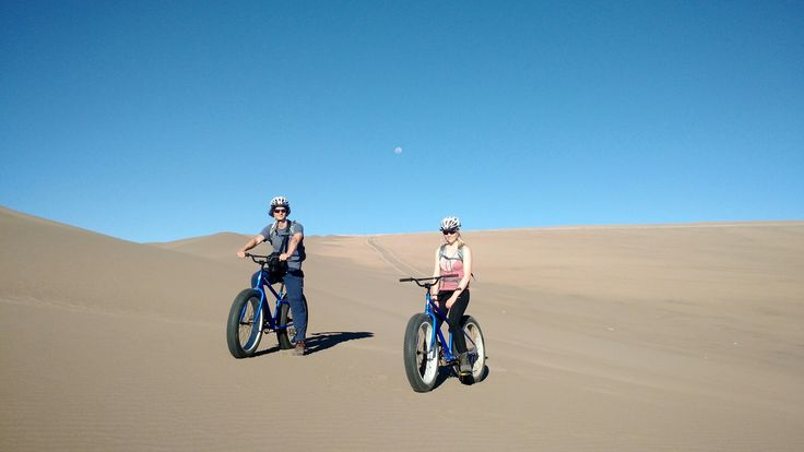 Fat biking the sand dunes of Atacama, Chile. #atacama #Chile #fatbike