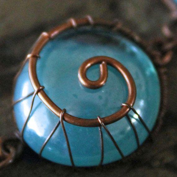 Draht gewickelt Kette & Glas Perlen: von TheDreamFaire auf Etsy