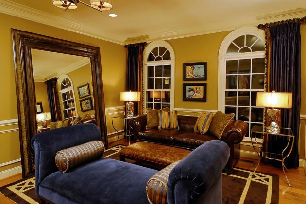 Traditional Yellow Living Room Design Ideas By Paula Grace Designs Inc Brown Living Room Brown Living Room Decor Gold Living Room Walls