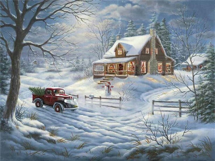 73 best OLD FASHION WINTER SCENES images on Pinterest  Christmas