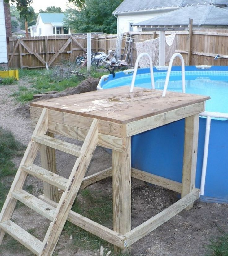 25 best ideas about pool steps on pinterest pool ladder swimming pool steps and above ground - Above ground pool steps ...
