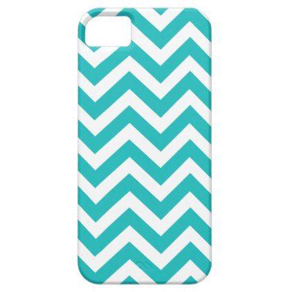 Turquoise Chevron Pattern iPhone SE/5/5s Case - pattern sample design template diy cyo customize