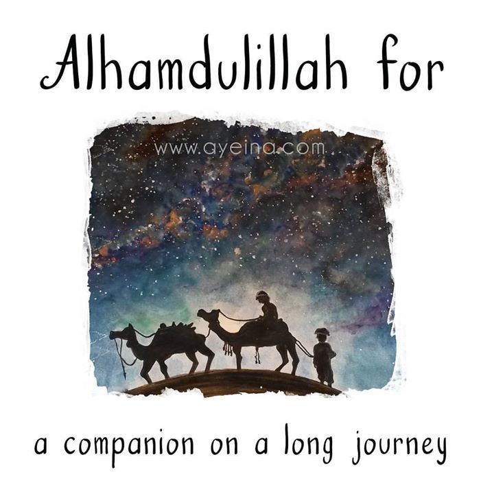 135: Alhamdulillah for a companion on a long journey (called life). #AlhamdulillahForSeries . .