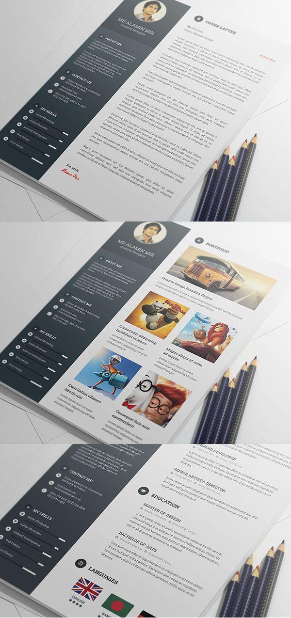 Free Modern Resume Templates & PSD Mockups | Freebies | Graphic Design Junction