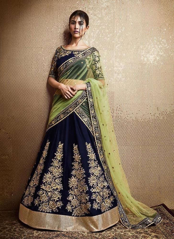 Partywear Bollywood Saree Pakistani Designer Sari Indian Ethnic Dress Wedding #TanishiFashion #LehengaSari