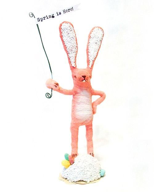 Spun-Cotton Easter Bunny How-To