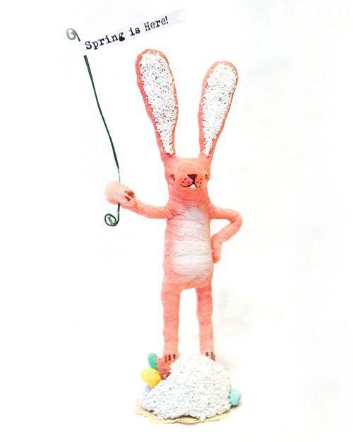 Spun-Cotton Easter Bunny How-To