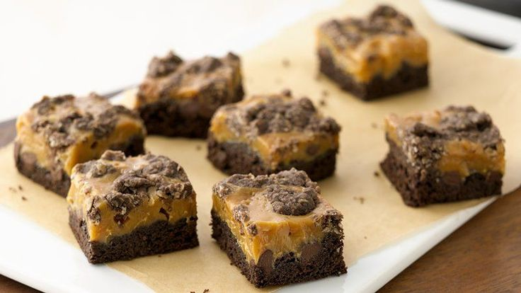 Who doesn't love gooey chocolate and caramel all wrapped up in a quick-to-make bar cookie.