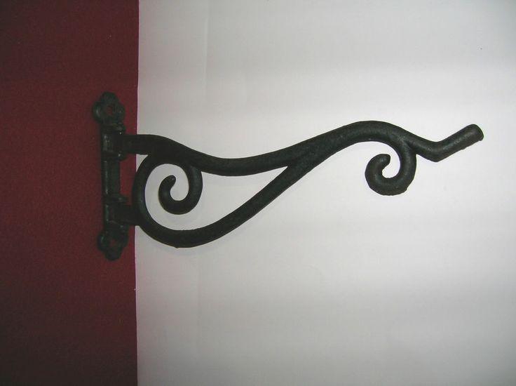 Victorian Style Cast Iron Swivel Plant Hanger Hook Coat