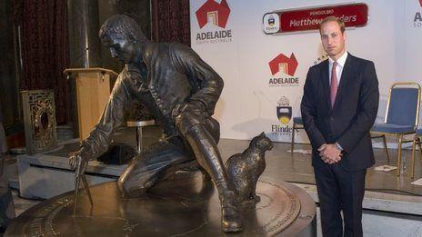 Prince William unveils explorer statue