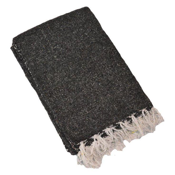 Yoga Direct Solid Color Deluxe Mexican Yoga Blanket Grey - Y042MEXGRA03