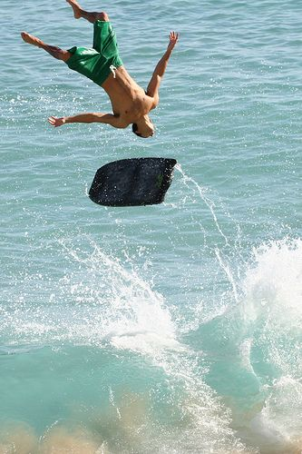Bodyboarder Backflip #3 - Wipeout