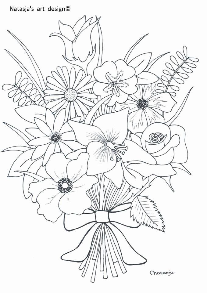 Flower Bouquet Coloring Page Best Of 1000 Afbeeldingen Over Bloemen Kleurplaten Op Pinterest Flower Coloring Pages Flower Drawing Coloring Pages