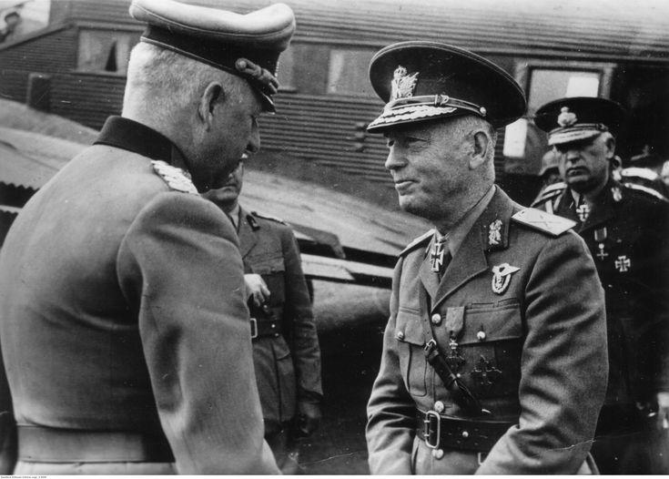 ■ Erich von Manstein, Ion Antonescu y Petre Dumitrescu.