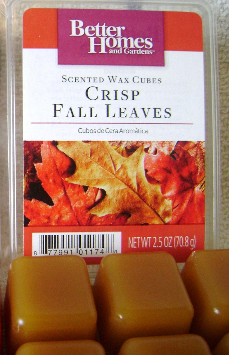 excellent better homes and gardens scented wax cubes. My very favorite scent  Better Homes Gardens wax melts Crisp Fall Leaves 32 best Candles Wax Cubes images on Pinterest Aroma candles