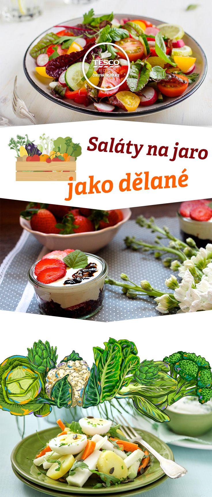 Připravte si vynikající jarní saláty podle našich receptů