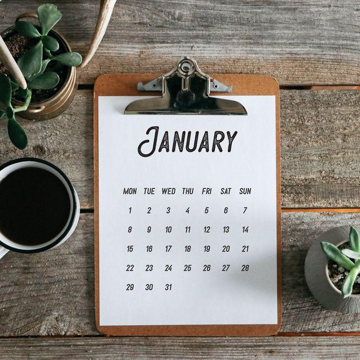 Free 2018 Calendar Printable Download | The Anastasia Co | Vintage 2018 Calendar Free