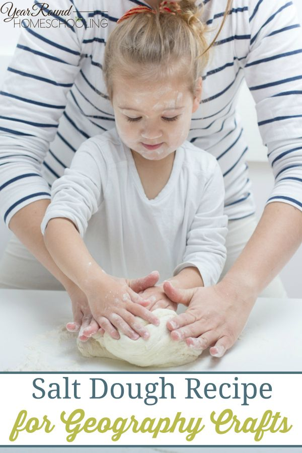 Salt Dough Recipe for Geography Crafts - Year Round Homeschooling
