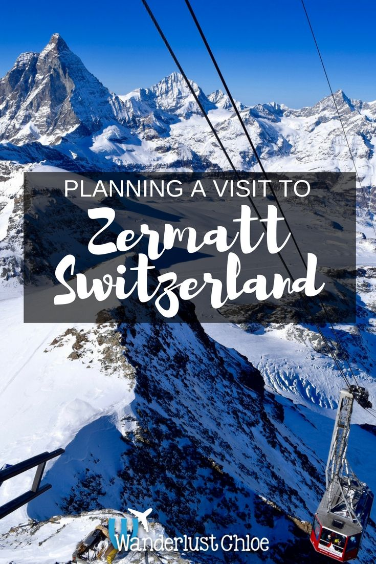 Plan a visit to Zermatt, Switzerland and The Matterhorn. Top Things To Do In Zermatt Switzerland. Zermatt's relaxing spas, top restaurants, stunning views and great activities mean there are plenty of great things to do for non-skiers who fancy a winter holiday in Switzerland.