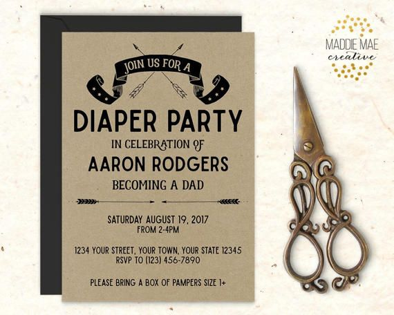 17 best ideas about diaper party invitations on pinterest | coed, Party invitations