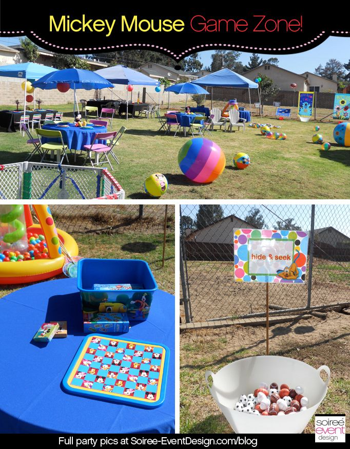 Mickey mouse clubhouse games for birthday party