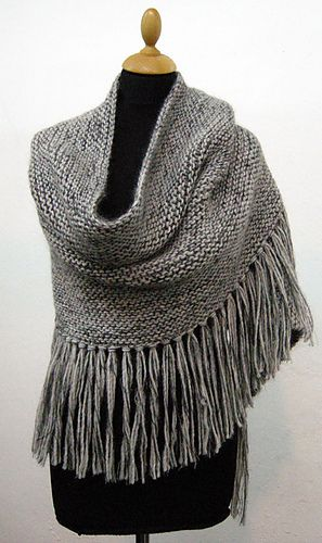 Love the idea of turning this shawl pattern into an oversized cowl/shrug/shoulder cozy with fringe...