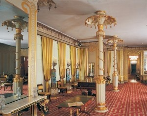 The Royal Pavilion Brighton - Also greatly restored and features a gorgeous exhibit of the Prince Regent's clothing.