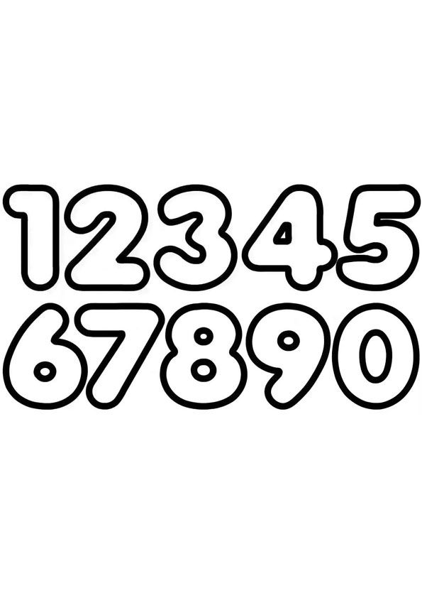 Number Coloring Page Coloring Pages Free Printable Numbers Printable Numbers