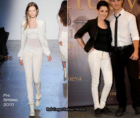 Kristen Stewart in Phi Spring 2010 pants - New Moon Mexico City Press Conference