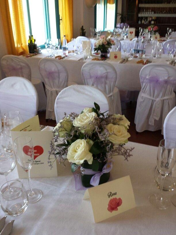 Segna tavolo. Tema dei fiori