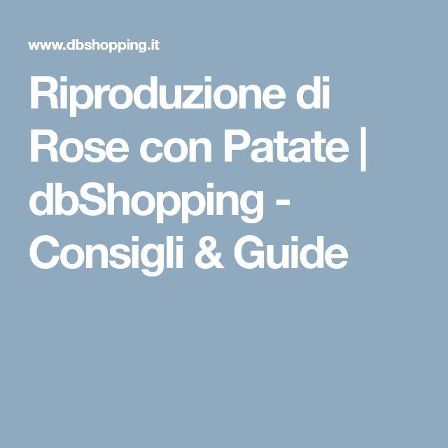 Riproduzione di Rose con Patate | dbShopping - Consigli & Guide