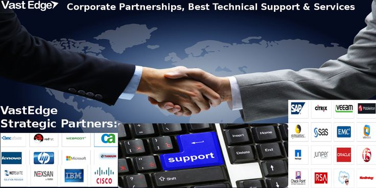 VastEdge providing #business #support services with its Strategic #Partners #VastEdge the fastest growing #IT company has #collaborated with Oracle, IBM, Cisco, NetSuite, Microsoft, HP, AWS, Citrix, SAP,Veeam, SAS, MobileIron, Tanium, Symantec and more to provide the best #technical #support #services & #solutions for #client #businesses.